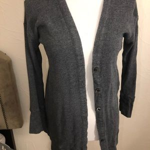 Splendid Waffle Knit Grey Cardigan